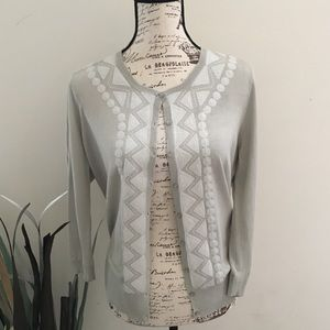 HALOGEN sequin design cardigan sweater